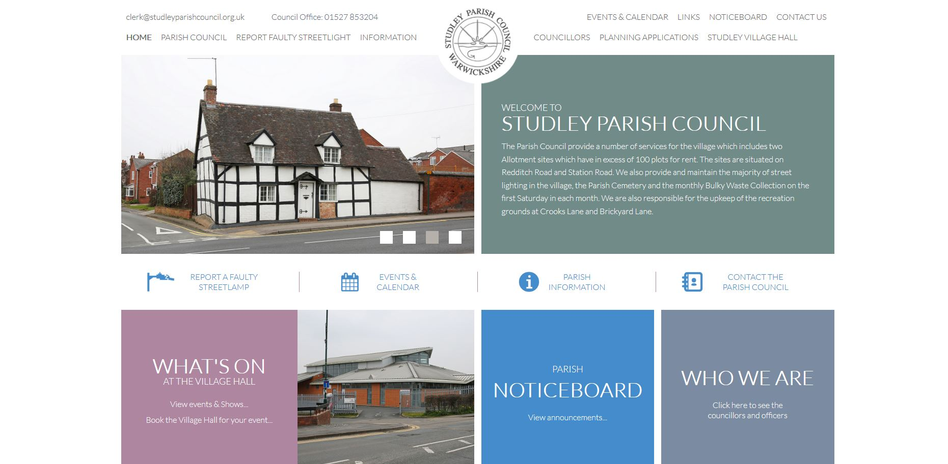 Studley Parish Council Website
