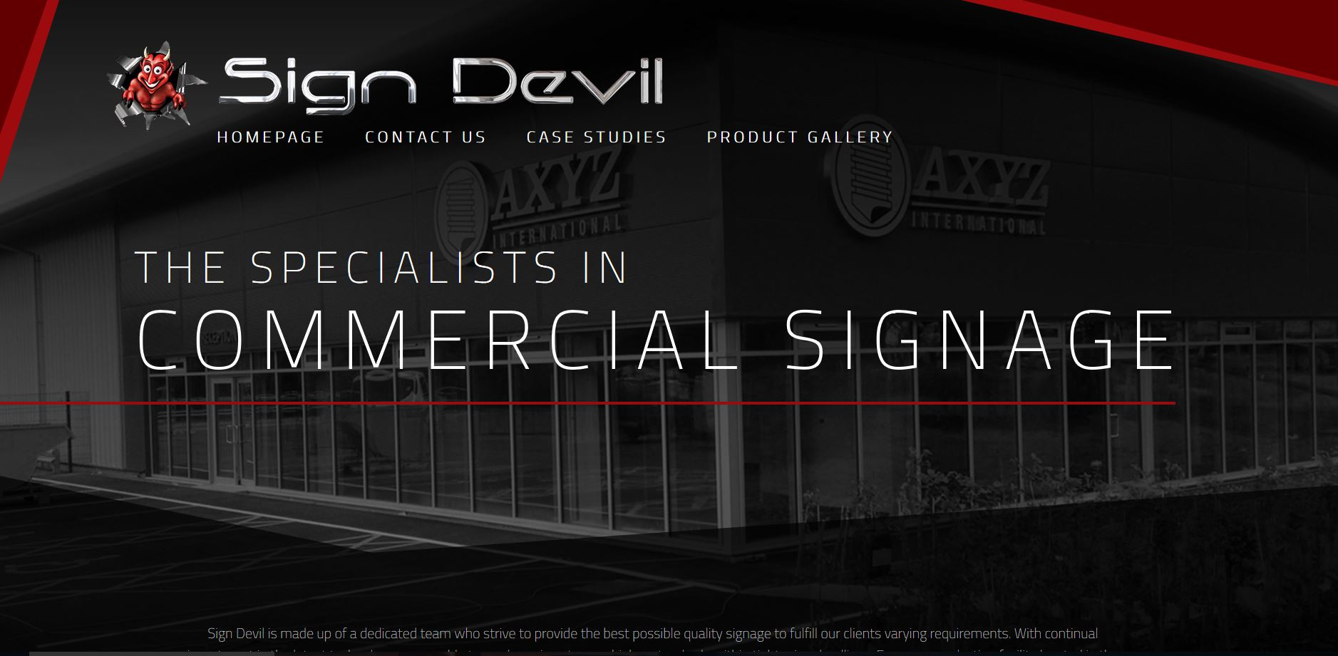 Sign Devil Website