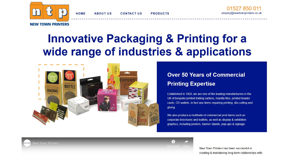 New Town Printers Website